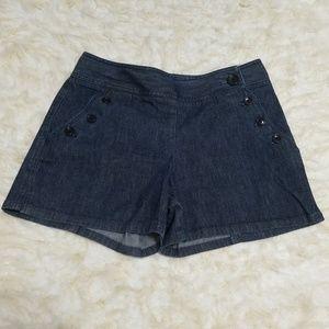 Sz 4 Shorts Stretch Denim Sailor Ann Taylor